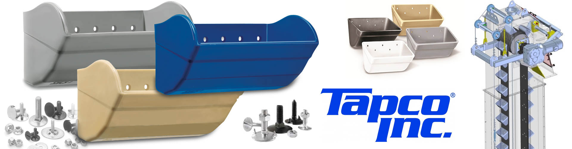 tapco elevator buckets and bolts